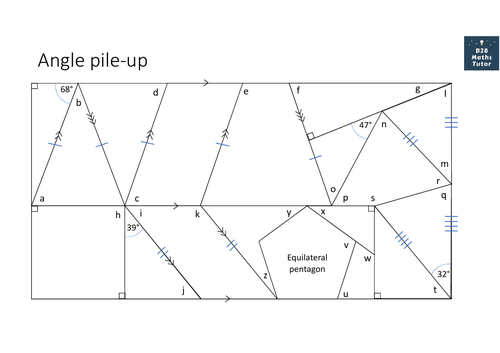Angle pile-up for GCSE (Foundation/Higher)