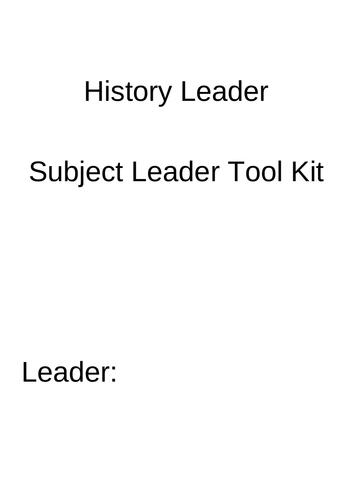 Subject Leader Impact Document
