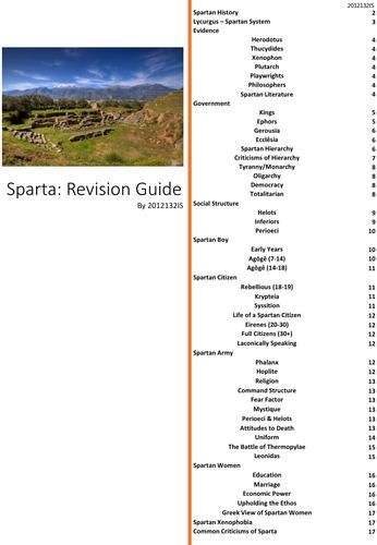 OCR Sparta Revision Guide