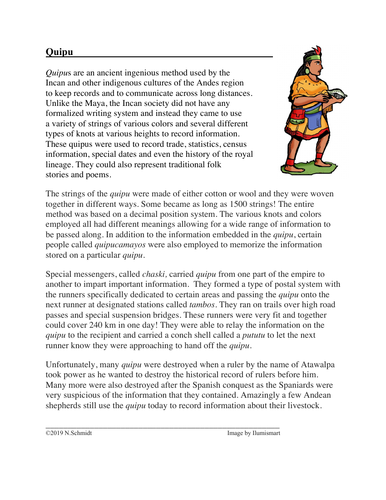Quipu: Ancient Incan Communication Method Cultural Reading (English Version)