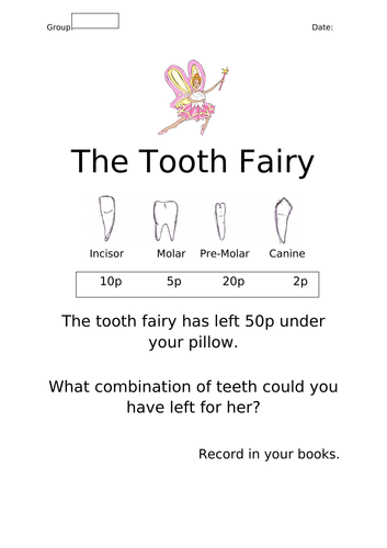 Tooth fairy Money problems