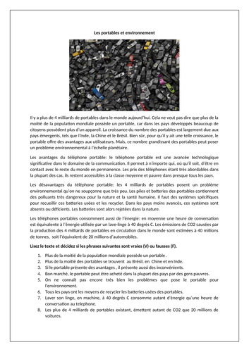 Les portables et environnement / Mobile phones and their environmental impact