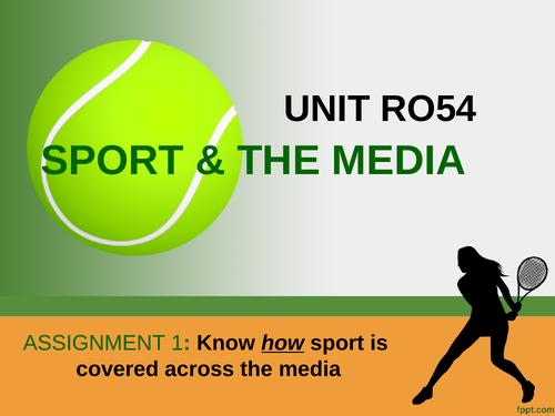 OCR Sport studies Media in sport assignment 1 pupil guide