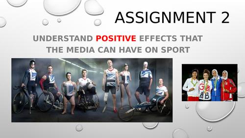 RO54 OCR Sport Studies Media in Sport assignment 2 (positives of the media)