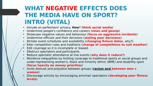 RO54 OCR sport studies Media in Sport assignment 3 Negatives of Media