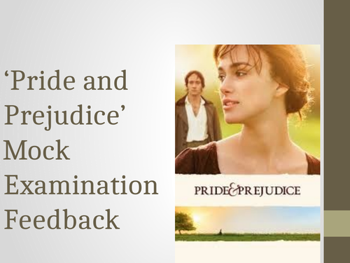Pride and Prejudice mock exam unit