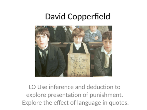 Comparing two texts (David Copperfield and Holes)