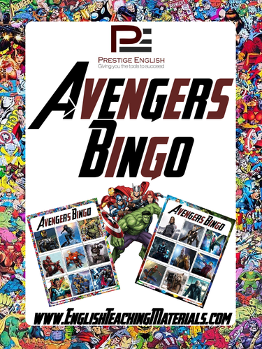 Marvel's Avengers Bingo Game