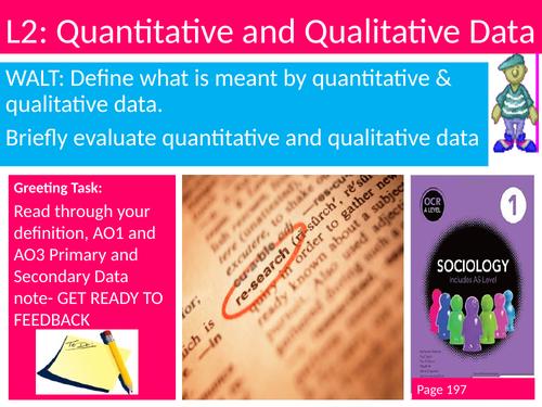 Sociology Research Methods #SOCRM Lesson 2 Quant vs Qual Data