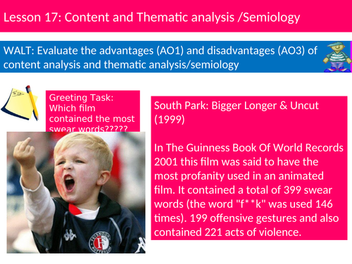 Sociology Research Methods Lesson 17 Content Analysis