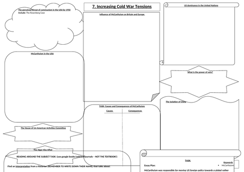 aqa the cold war 1945-1991 chp 7 increasing cold war tensions revision by  thehistoryshop1 | teaching resources