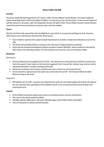Exxon valdez case study assignments