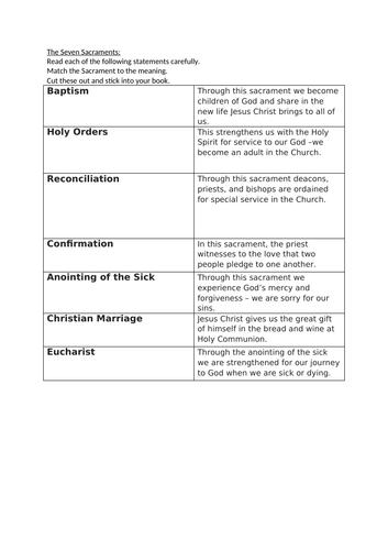 The 7 Sacraments Introduction