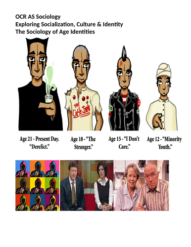 Sociology #SOCCUID Culture, Socialisation and Identity Lesson 33-35 Age Identity