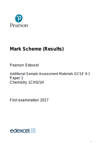 Edexcel 9-1 Chemistry Sample Papers Exam Papers