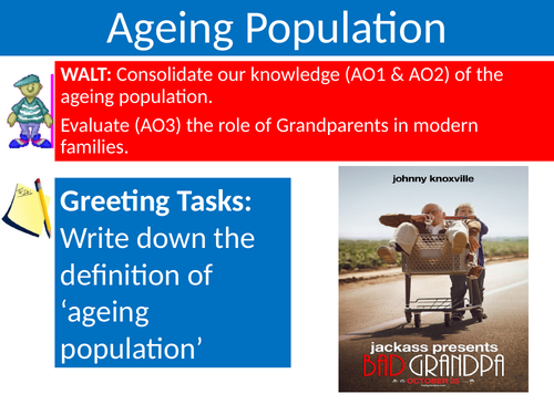 Sociology #SOCFAM Families Lesson 15  Ageing Population