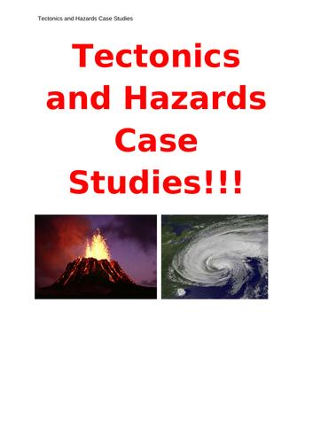 Tectonics and Hazards Full Set of Casestudies