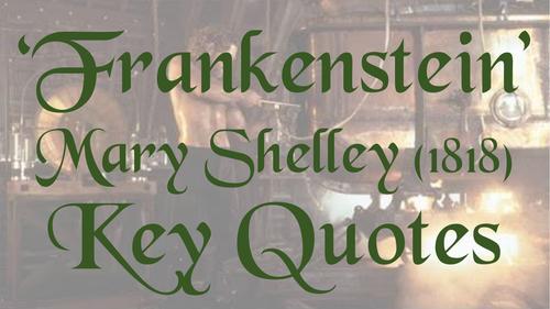 Frankenstein Key Quotes Display
