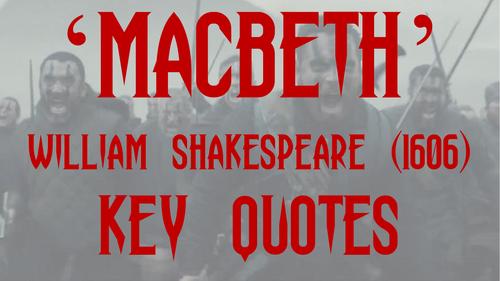 Macbeth Key Quotes Display