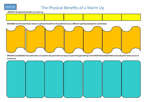 RO41 - Cambridge National - Physiological and Psychological benefits of a warm up and cool down