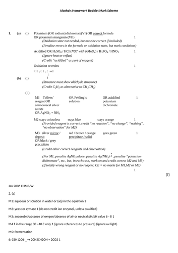 AQA AS Level Unit 3 Section 3 Alcohols (Oxidation, Required practical 5- cyclohexanol, hydration)