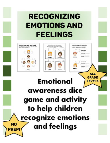 Identifying Feelings and Emotions Activity & Game