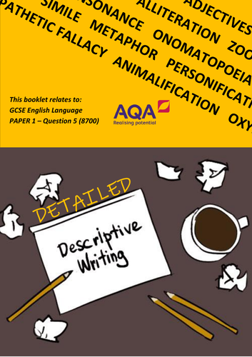 New Spec GCSE English Language - Revision Workbook - Descriptive Writing - Paper 1 - Question 5