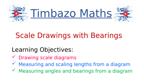 Scale Drawings with Bearings
