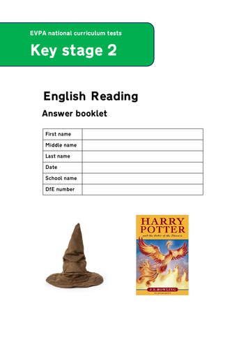 Sorting Hat SATs Style Reading Questions
