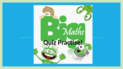 Year 2 SATs arithmetic practise 70+ slides