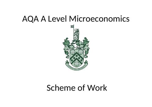 New AQA A Level spec: Micro scheme of work