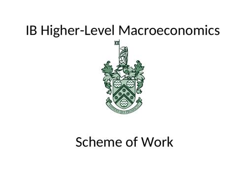 IB HL Macro Econ scheme of work