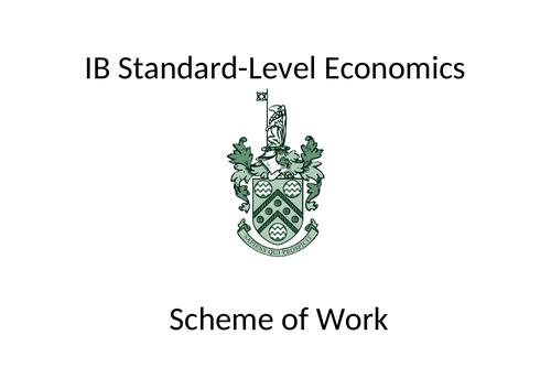 IB SL Econ scheme of work