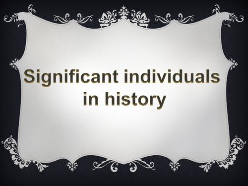KS1 History Significant Individuals presentation