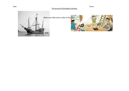 What was it like to be a sailor? history worksheet