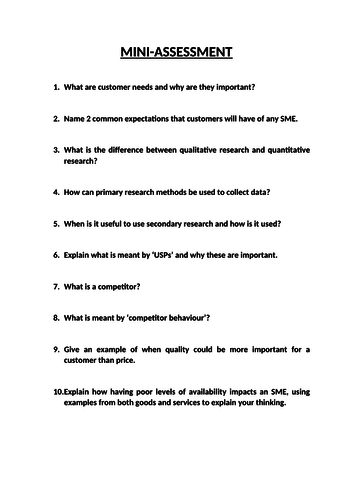 Exploring Enterprises - Learning Aim B