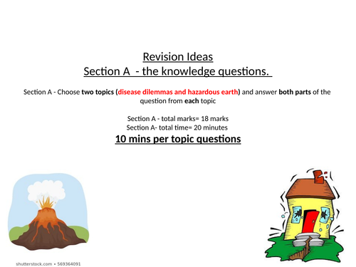 OCR A-Level Component 3 Geographical Debates Hazardous Earth