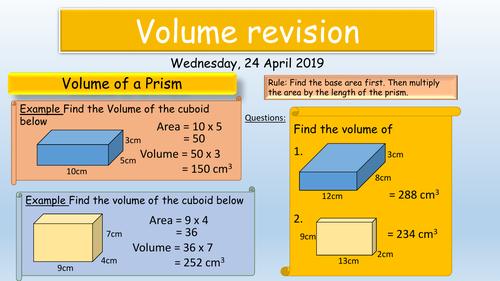 GCSE Maths : Volume & Surface area revision KS4