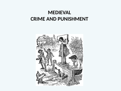 Crime and Punishment Photo Pack Activity with Worksheet and PowerPoint