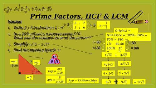 GCSE Maths (9-1) Prime Factors, HCF, LCM