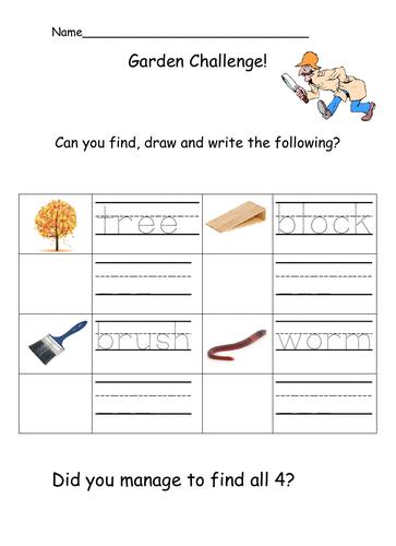 Outdoor Writing Challenge