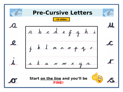 Pre-Cursive Handwriting - PowerPoint