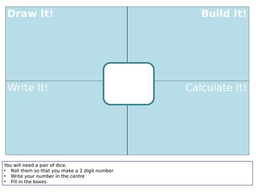 Draw It! Build It! Write It! Calculate It! Maths Mat