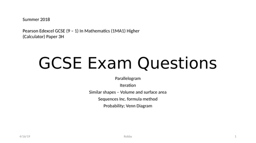 Powerpoint  Cambridge  GCSE D&T Exam