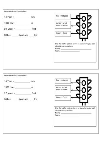 Metric and Imperial Units KS3 Activities