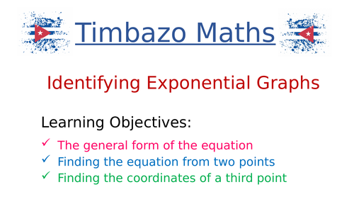 Finding Equation of Exponential Graphs