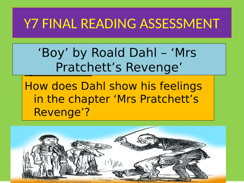 Mrs Pratchett's Revenge' Roald Dahl - Reading Assessment