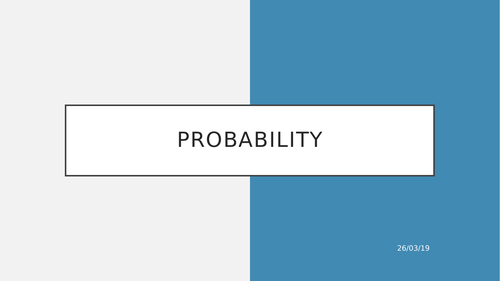 KS3 Probability - Event Happening, Not Happening, Frequency Trees, Experimental Probability