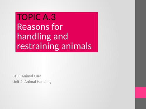 BTEC Animal Care  Unit 2