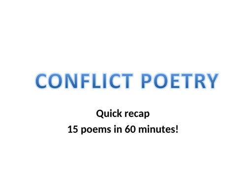 GCSE Conflict Poetry In 60 mins
